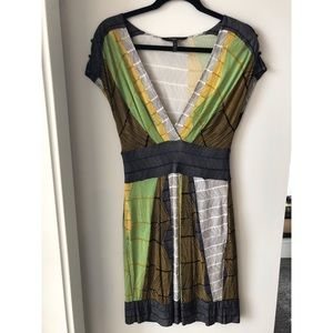 BCBG Maxazria Aztec Green & Brown Dress Small